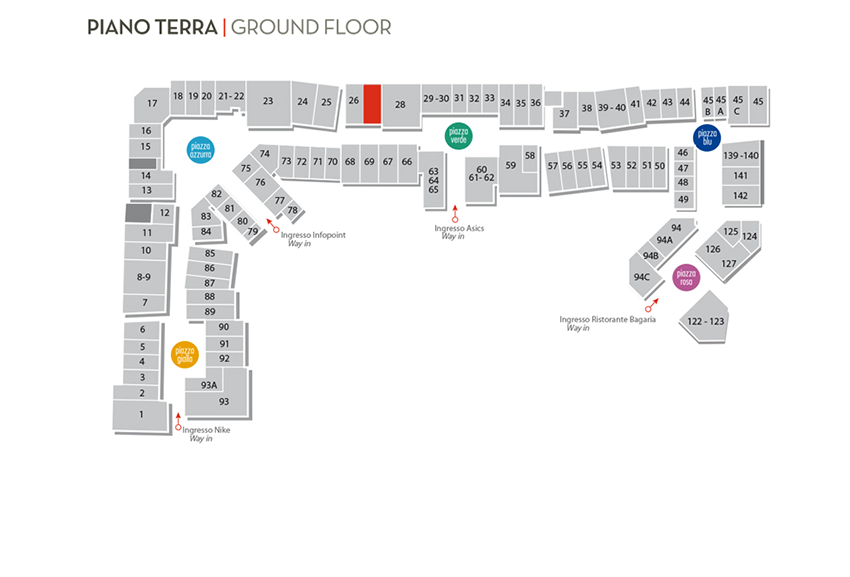 Mappa goldenpoint OUTLET