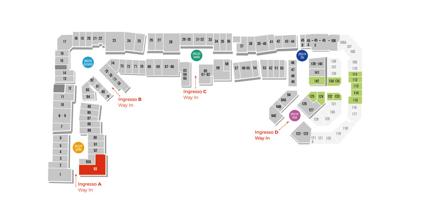 Mappa NikeFactoryStore