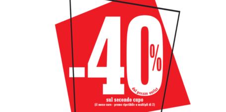 -40% sul secondo capo meno caro