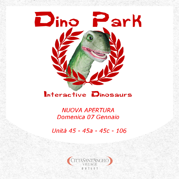 Nuova apertura dino park interactive dinosaurs citt for Nuova apertura grande arredo bari