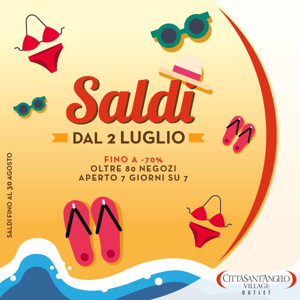 the best attitude 7885c 49860 I saldi estivi arrivano al Città Sant'Angelo Outlet Village ...