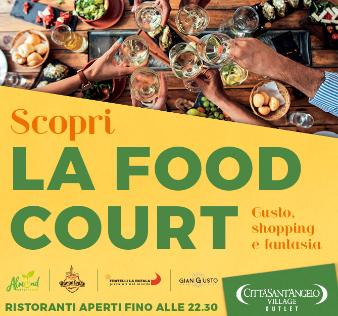 Orari Food Court del CSA Villlage Outlet