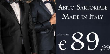 Abito sartoriale Made in Italy a partire da € 89,99